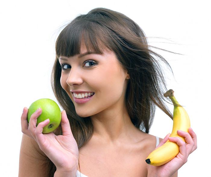 Женщина с витаминами