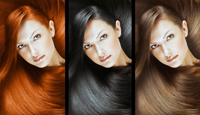 Разный цвет волос