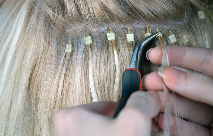 наращивание волос дома
