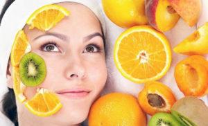 фруктовый пилинг лица
