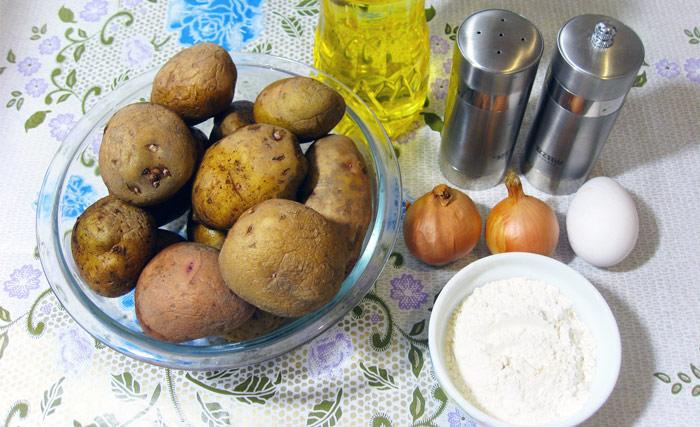ингредиенты к приготовлению драников