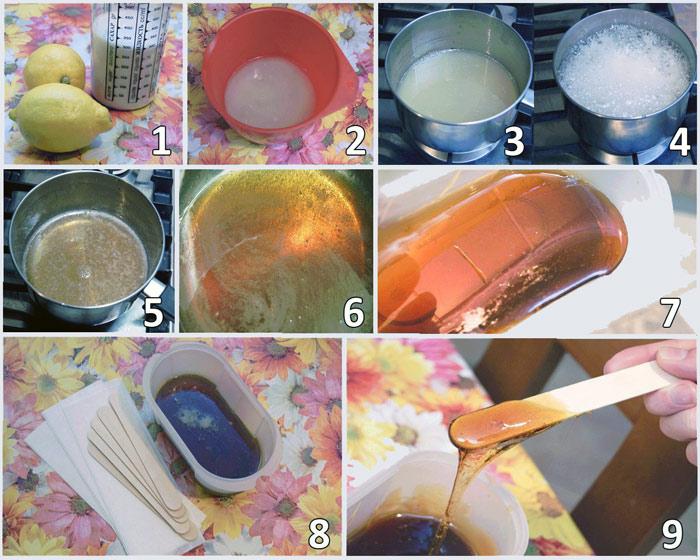приготовление шугаринга